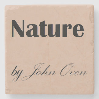 Nature by John Oven Logo Coaster