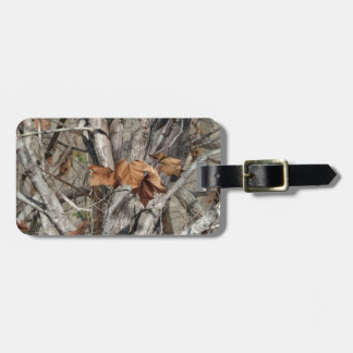 Nature Camouflage Leaves and Branches pattern Luggage Tag