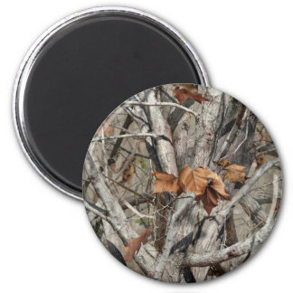 Nature Camouflage Leaves and Branches pattern Magnet