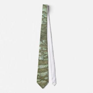 Nature Camouflage Oak Tree Bark Camo Neck Tie
