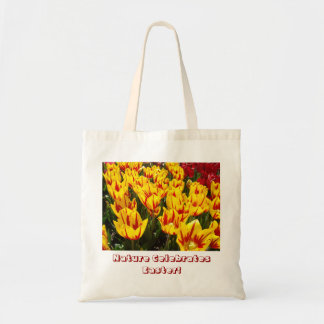 Nature Celebrates Easter! Tote bags Tulip Flowers