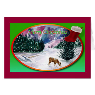 Nature Christmas Card Card