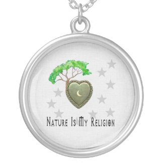 Nature Church Round Pendant Necklace