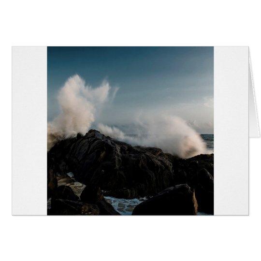 Nature Coast Crash On Rocks Card
