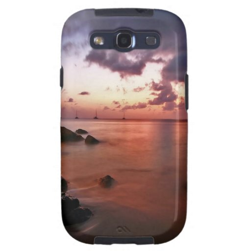 Nature Coast Maroon Water Galaxy S3 Covers