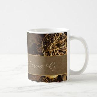 Nature- Coffee Cup- w/ custom monogram Coffee Mug