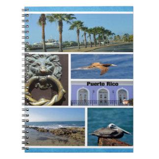 Nature collage of San Juan, Puerto Rico Spiral Notebook