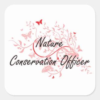 Nature Conservation Officer Artistic Job Design wi Square Sticker