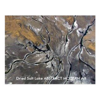 Nature created Modern Abstract FineArt Dried Salt Postcard