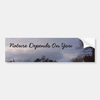 Nature Depends On You Bumper Sticker