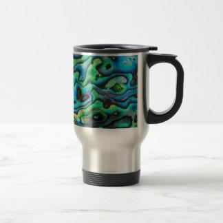 Nature design paua abalone shell travel mug