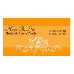 Nature Designs White Lotus  Bold Elegant Business Card Template