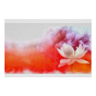 Nature digital painting for home decore:Lotus Posters