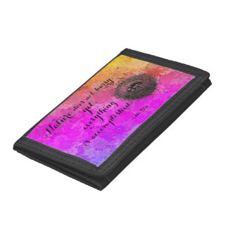 Nature Does Not Hurry LaoTzu Quote Birds Nest Trifold Wallet