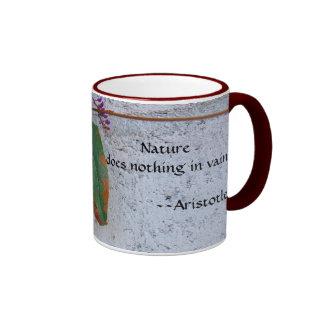Nature Does Nothing In Vain Ringer Mug