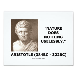 Nature Does Nothing Uselessly (Aristotelian Quote) Card