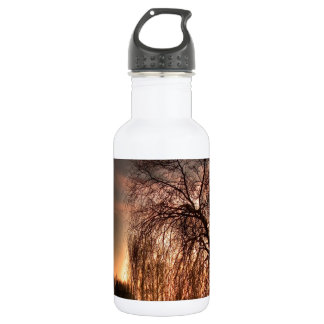Nature Dusk After Glowing Reflection Water Bottle