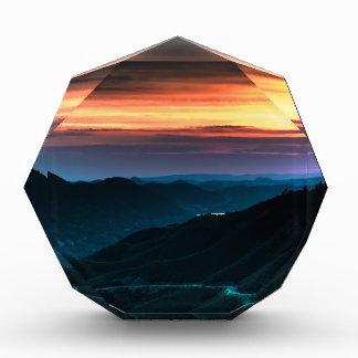 Nature Dusk Coloured Rainbow Acrylic Award