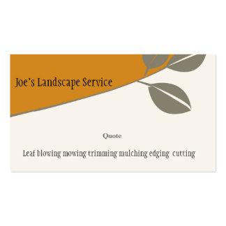 Nature Elegant Autumn Leaf Marketing Profile Business Card