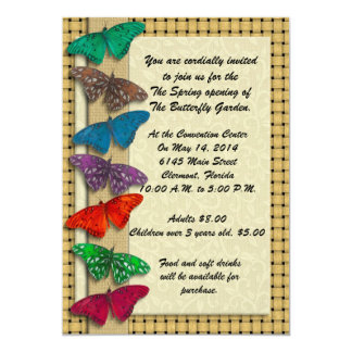 Nature event invitation with butterflies