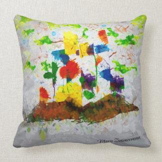 """""""Nature Fantasy Trees"""" throw pillow"""