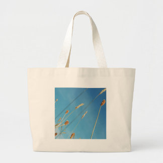 Nature Field Grassy Tops Large Tote Bag