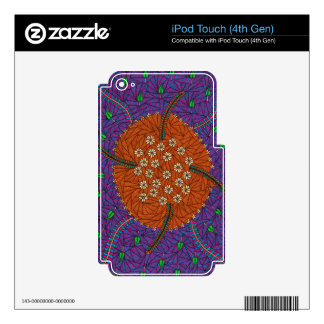 Nature Floats Floral And Leaves Decals For iPod Touch 4G