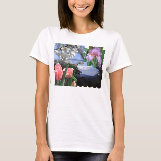 Nature Floral Collage T-Shirt