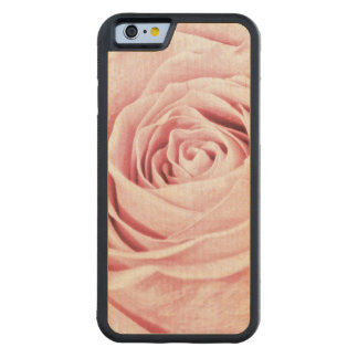 Nature Floral Photo Dainty Girly Pink Rose Carved Maple iPhone 6 Bumper Case