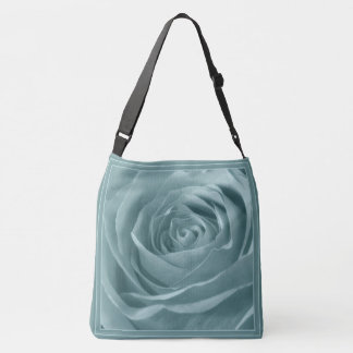 Nature/Floral Photography Abstract Aqua Rose Pic Crossbody Bag