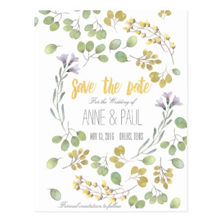 Nature Floral Save the Date III Postcard