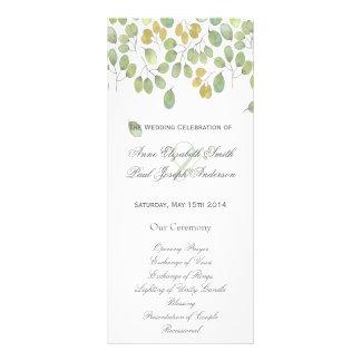 Nature floral Wedding Program II Custom Rack Cards