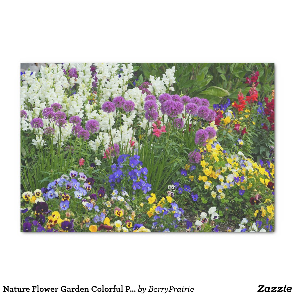 Nature Flower Garden Colorful Photo Tissue Paper