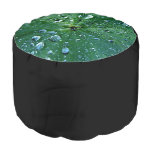 Nature Flowers Round Pouf