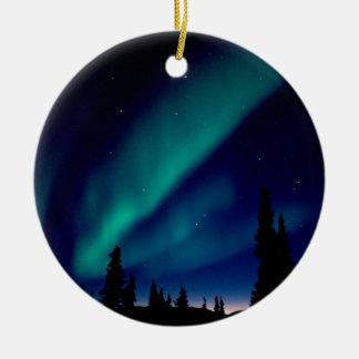 Nature Forces Aurora Borealis Alaska Ceramic Ornament