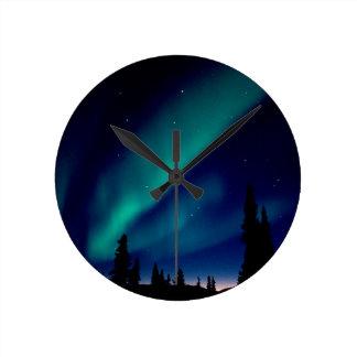 Nature Forces Aurora Borealis Alaska Round Clock