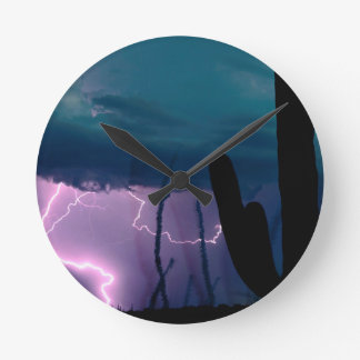 Nature Forces Desert Storm Wall Clock
