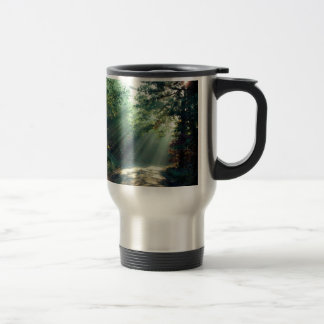 Nature Forces Light The End Of The Road Stainless Steel Travel Mug