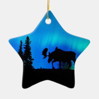 Nature Forces Night Phenomenon Double-Sided Star Ceramic Christmas Ornament