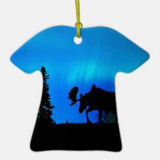 Nature Forces Night Phenomenon Double-Sided T-Shirt Ceramic Christmas Ornament