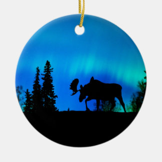 Nature Forces Night Phenomenon Double-Sided Ceramic Round Christmas Ornament