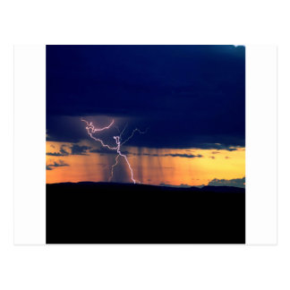 Nature Forces Storm Front Zion Utah Postcard