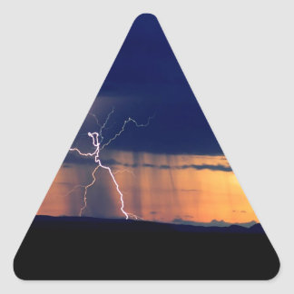 Nature Forces Storm Front Zion Utah Triangle Sticker