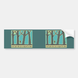Nature, Forests, Hiking Bumper Sticker