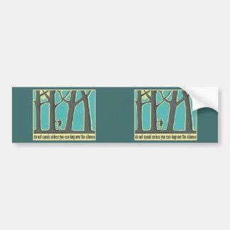 Nature, Forests, Hiking Car Bumper Sticker