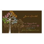 Nature Four Seasons Trees Custom Business Cards