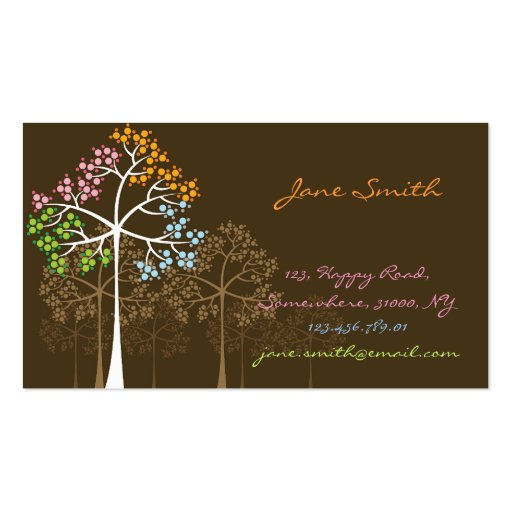 Nature Four Seasons Trees Custom Business Cards