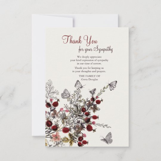 Nature funeral thank you cards zazzle nature funeral thank you cards m4hsunfo