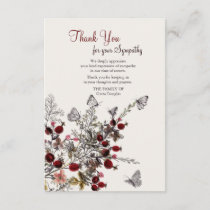 Nature Funeral Thank You Cards