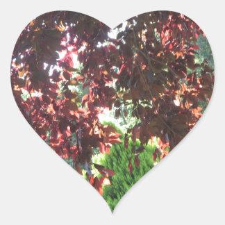 Nature Garden Green NewJersey USA NVN671 GIFTS FUN Heart Sticker